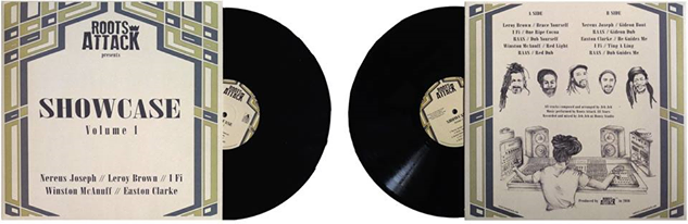 Roots Attack Vynil Cover Front And Back